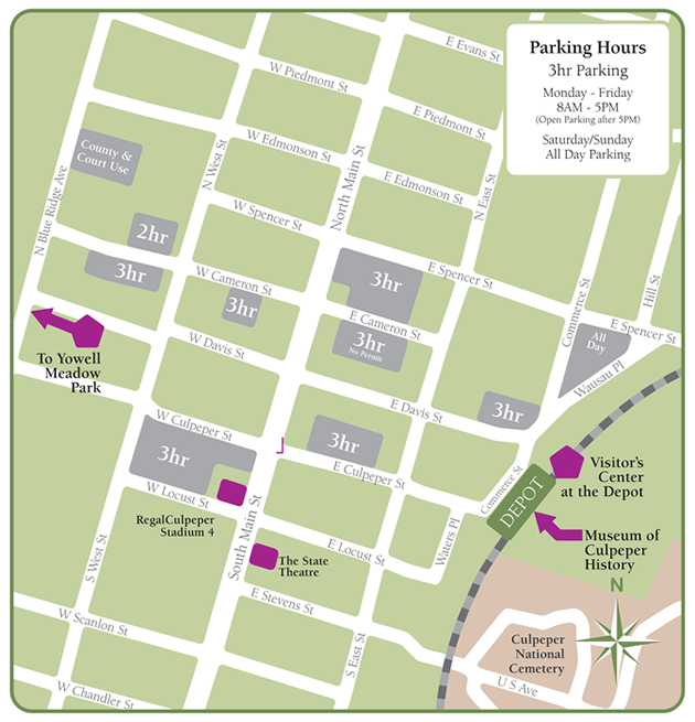Parking Map For Downtow Culpeper Renaissance